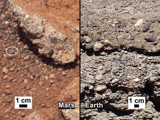 Вода Марс русло ручья