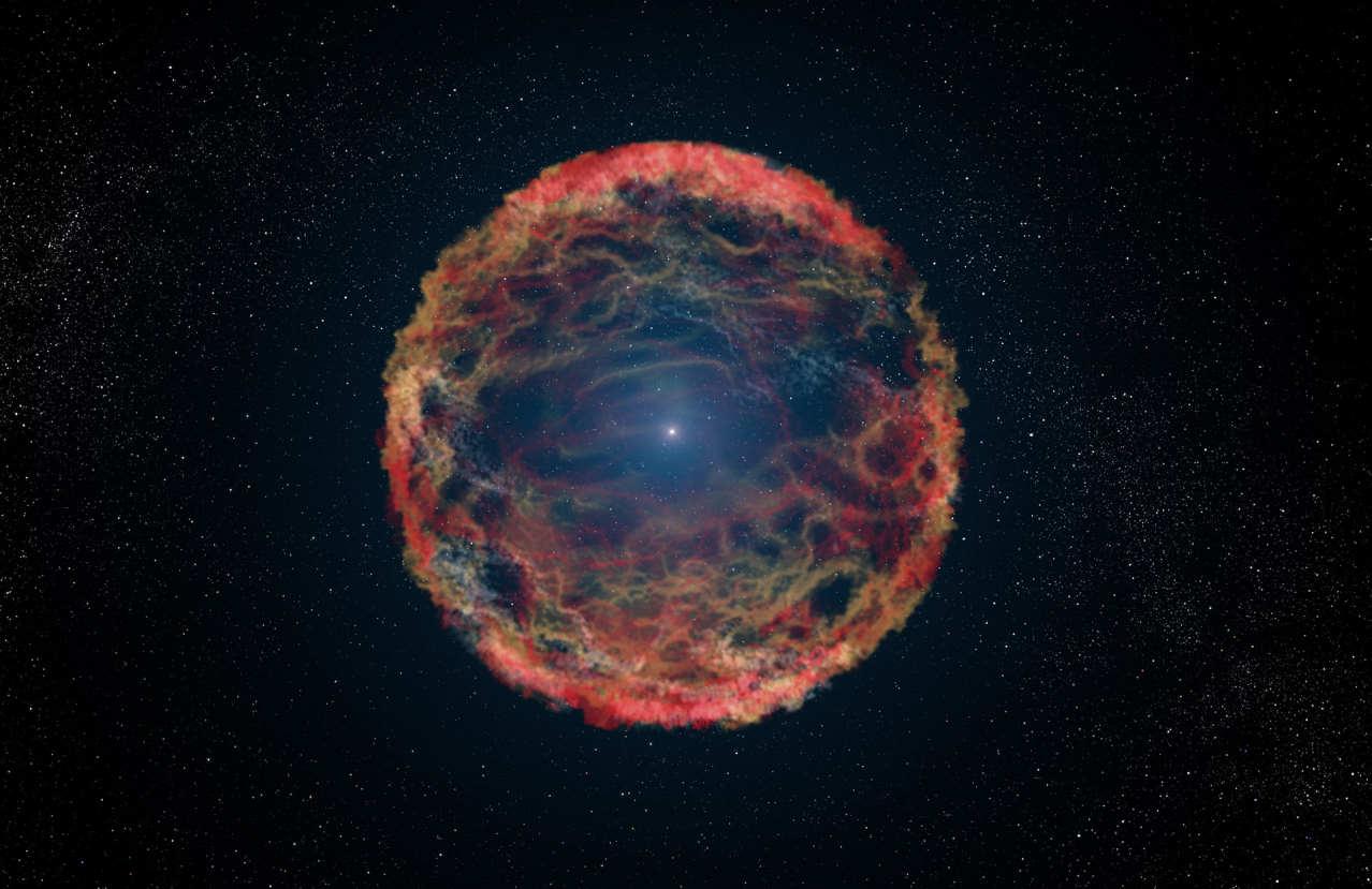 Смоделированный взрыв сверхновой звезды